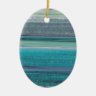Ocean Double-Sided Oval Ceramic Christmas Ornament