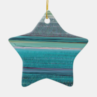 Ocean Double-Sided Star Ceramic Christmas Ornament