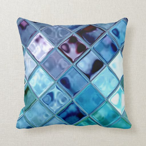 Deep Blue Throw Pillows : Ocean Dove Deep Water Blue Throw Pillow Zazzle