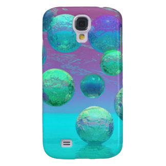 Ocean Dreams, Abstract Aqua Violet Ocean Fantasy Galaxy S4 Cover