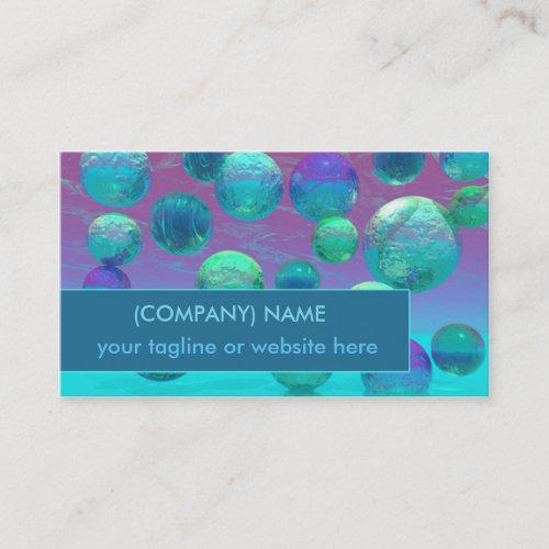 Ocean Dreams, Abstract Aqua Violet Ocean Fantasy H Business Card