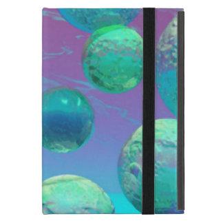 Ocean Dreams, Abstract Aqua Violet Ocean Fantasy iPad Mini Cases