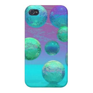 Ocean Dreams, Abstract Aqua Violet Ocean Fantasy Case For iPhone 4