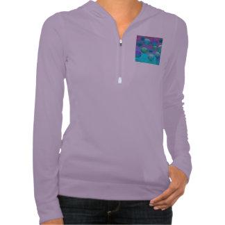 Ocean Dreams, Abstract Aqua Violet Ocean Fantasy Sweatshirt