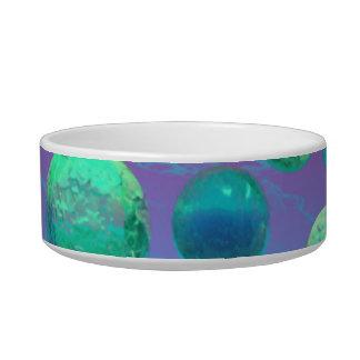 Ocean Dreams - Aqua and Violet Ocean Fantasy Bowl
