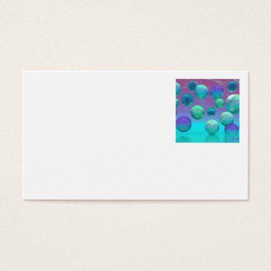 Ocean Dreams - Aqua and Violet Ocean Fantasy Business Card