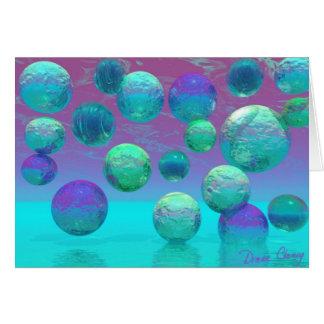 Ocean Dreams - Aqua and Violet Ocean Fantasy Cards