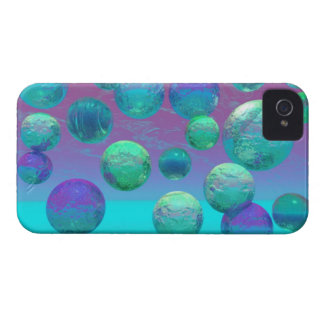 Ocean Dreams - Aqua and Violet Ocean Fantasy iPhone 4 Cover