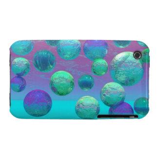 Ocean Dreams - Aqua and Violet Ocean Fantasy iPhone 3 Case-Mate Cases