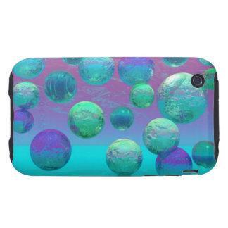 Ocean Dreams - Aqua and Violet Ocean Fantasy Tough iPhone 3 Case