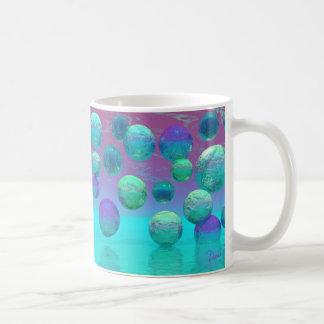Ocean Dreams - Aqua and Violet Ocean Fantasy Coffee Mug