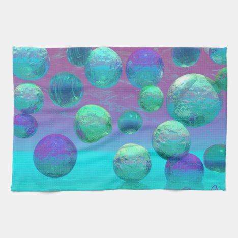 Ocean Dreams - Aqua and Violet Ocean Fantasy Hand Towel
