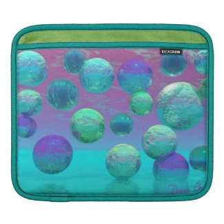 Ocean Dreams - Aqua and Violet Ocean Fantasy iPad Sleeve