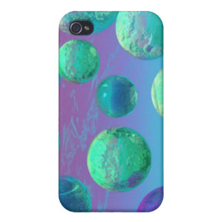 Ocean Dreams - Aqua and Violet Ocean Fantasy iPhone 4/4S Cases