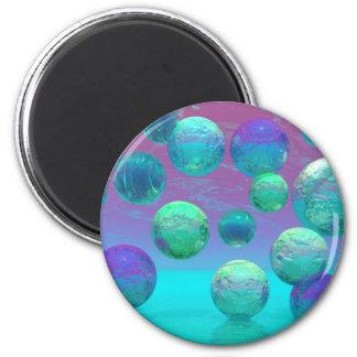 Ocean Dreams - Aqua and Violet Ocean Fantasy Magnet