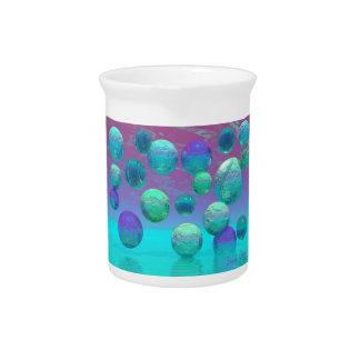 Ocean Dreams - Aqua and Violet Ocean Fantasy Pitcher