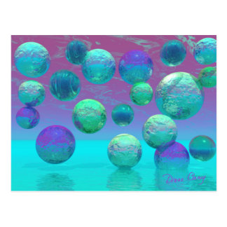 Ocean Dreams - Aqua and Violet Ocean Fantasy Postcard