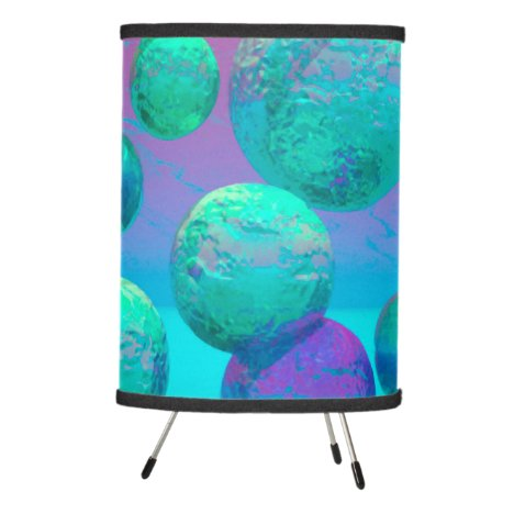 Ocean Dreams - Aqua and Violet Ocean Fantasy Tripod Lamp