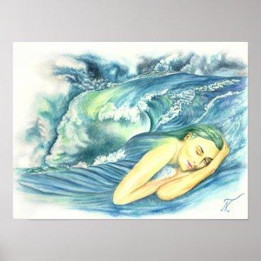 Art Themed Ocean dreams poster