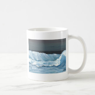 Ocean Dreams Sea Waves Night Moonlit Sea Coffee Mug