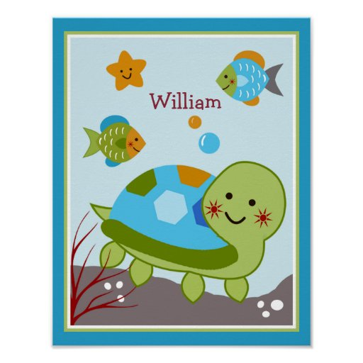 Ocean Dreams/Sealife/Fish Personalized Poster
