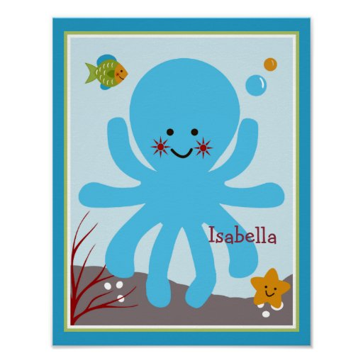 Ocean Dreams/Sealife/Octopus Personalized Poster