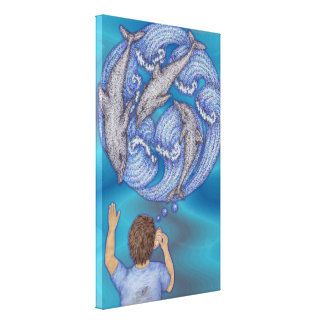 Ocean Dreams Stretched Canvas Print