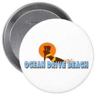 Ocean Drive. Pinback Button