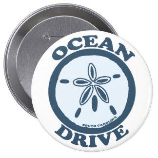 Ocean Drive. Pinback Buttons