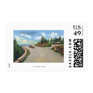 Ocean Drive Double Deck Road View Postage Stamps