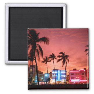 Ocean Drive - Miami Beach Skyline Magnet