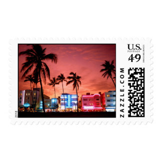 Ocean Drive - Miami Beach Skyline Stamps