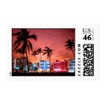 Ocean Drive - Miami Beach Skyline Stamps