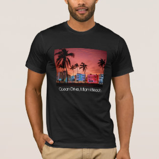 Ocean Drive - Miami Beach Skyline T-Shirt