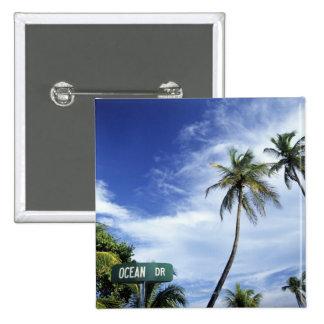 Ocean Drive' road sign, South Beach, Miami, Florid Button