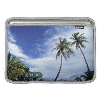 Ocean Drive' road sign, South Beach, Miami, Florid Sleeves For MacBook Air