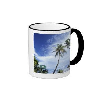 Ocean Drive' road sign, South Beach, Miami, Florid Coffee Mug