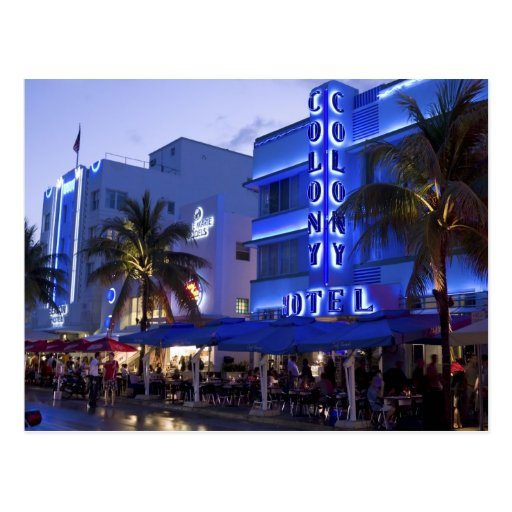 Ocean Drive, South Beach, Miami Beach, 2 Post Cards
