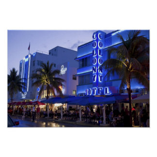 Ocean Drive, South Beach, Miami Beach, 2 Poster