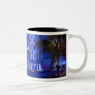 Ocean Drive, South Beach, Miami Beach, 2 Two-Tone Coffee Mug