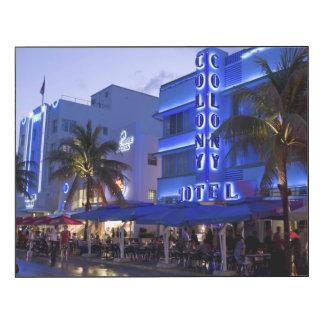 Ocean Drive, South Beach, Miami Beach 2 Wood Wall Art