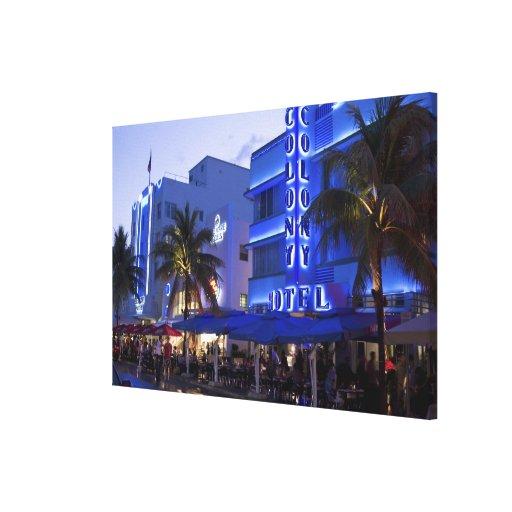 Ocean Drive, South Beach, Miami Beach, Stretched Canvas Prints