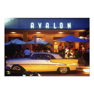 Ocean Drive, South Beach, Miami Beach, Photo Print