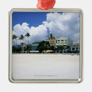 Ocean Drive, South Miam Beach, Miami - Florida Metal Ornament