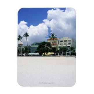 Ocean Drive, South Miam Beach, Miami - Florida Rectangle Magnet