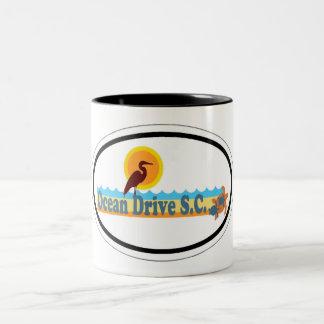 Ocean Drive. Two-Tone Coffee Mug