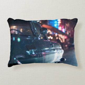 Ocean Drive vintage car Accent Pillow