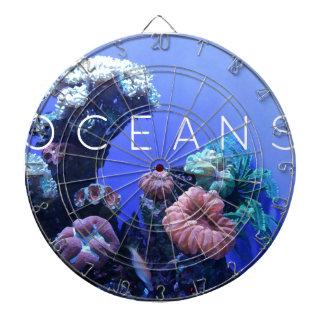 Ocean environment dartboard with darts