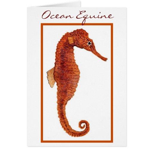 Ocean Equine Greeting Card