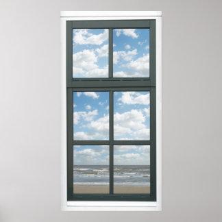Ocean Fake Window View Poster